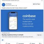 Coinbaseがfacebook広告を再開。facebookは禁止後初の仮想通貨関連広告を解禁